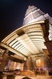 Torre de Shangai Jin Mao en la noche Foto de archivo