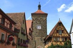 Torre de Siebers no der Tauber do ob de Rothenburg Foto de Stock Royalty Free