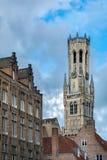 Torre de sino de Bruges, Bélgica Imagem de Stock Royalty Free