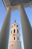 Torre de sino da catedral de Vilnius Imagens de Stock Royalty Free
