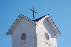 Torre de sino da igreja com cruz Foto de Stock Royalty Free