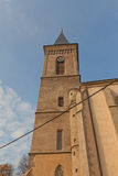 Torre de sino da igreja de nossa senhora Na Nameti em Kutna Hora Fotos de Stock