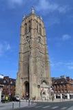 A torre de sino da igreja de Saint Eloi em Dunkirk, França Fotografia de Stock Royalty Free