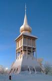 Torre de sino da igreja no inverno, Sweden de Kiruna Imagem de Stock Royalty Free