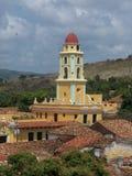 Torre de sino da silhueta em Avila, spain Fotos de Stock