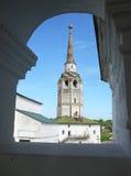 Torre de sino da silhueta em Avila, spain imagem de stock royalty free
