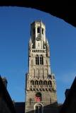 Torre de sino de Bruges Imagem de Stock Royalty Free