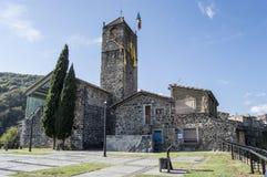 Torre de sino de Castellfollit Fotografia de Stock