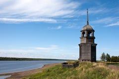 Torre de sino de madeira russian velha imagem de stock royalty free