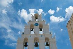 Torre de sino de Megalochori Fotos de Stock Royalty Free