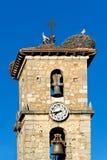 Torre de sino de San Leonardo de Yague Fotos de Stock Royalty Free