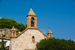 Torre de sino Eze da igreja França Foto de Stock