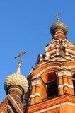 Torre de sino ortodoxo do russo Fotografia de Stock