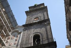 Torre de sino de San Lorenzo Maggiore foto de stock royalty free