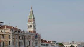Torre de sino de San Marco em Veneza, Itália video estoque