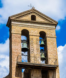 Torre de sino velha foto de stock royalty free