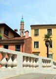 A torre de sino velha chamou Torre Bissara na cidade de Vicenza imagem de stock royalty free