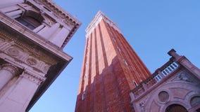 Torre de sino Veneza de San Marco de baixo de filme