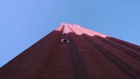 Torre de sino Veneza de San Marco de baixo de video estoque