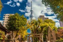 Torre de Skytree no Tóquio fotografia de stock