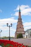 Torre de Soyembika en Kazán el Kremlin Fotos de archivo