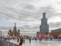 A torre de Spasskaya é fechado para a RESTAURAÇÃO Imagem de Stock Royalty Free