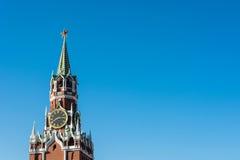 Torre de Spasskaya de la Moscú el Kremlin foto de archivo