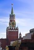 Torre de Spasskaya de Moscú Kremlin imagen de archivo