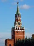 Torre de Spasskaya de Moscovo Kremlin fotografia de stock royalty free