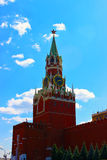 Torre de Spasskaya em kremlin Imagens de Stock
