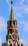 Torre de Spasskaya em Moscou, Rússia Imagem de Stock Royalty Free