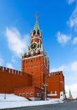 Torre de Spassky de Moscovo Kremlin Fotos de Stock Royalty Free