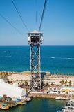Torre de St. Sebastia Cable Cars Royalty Free Stock Photography