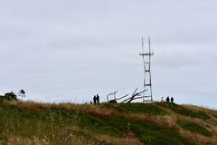 Torre de Sutro como visto de Mt Davidson San Francisco, 10 fotos de stock