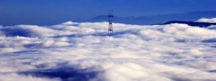 Torre de Sutros, tarde no outono, San Francisco foto de stock royalty free