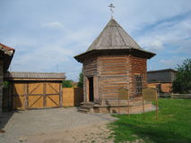 Torre de Suzdal hecha de la madera Fotografía de archivo libre de regalías