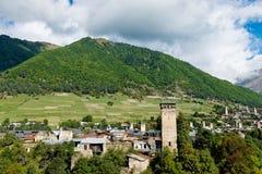 Torre de Svan en Mestia Foto de archivo libre de regalías