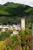 Torre de Svan en Mestia georgia Imagen de archivo libre de regalías