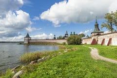 A torre de Svitochnaya fortificou o século XVI fotos de stock royalty free