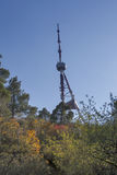 Torre de Tbilisi TV en el soporte Mtatsminda - Georgia Fotografía de archivo libre de regalías