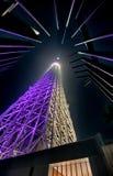 Torre de Tokio en la noche Fotografía de archivo libre de regalías