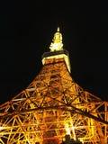 Torre de Tokio en noche imágenes de archivo libres de regalías