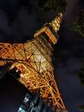 Torre de Tokyo em a noite foto de stock