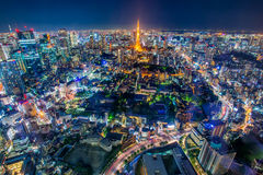 Torre de Tokyo, Tokyo, Japão Imagem de Stock Royalty Free