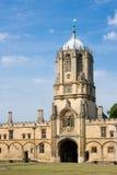Torre de Tom de la iglesia de Cristo, Universidad de Oxford Foto de archivo libre de regalías