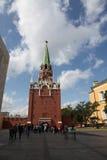 Torre de Troitskaya de Moscovo Kremlin Rússia Fotos de Stock Royalty Free