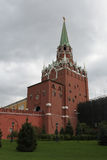 Torre de Troitskaya de Moscovo Kremlin Rússia Imagens de Stock