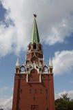 Torre de Troitskaya de Moscovo Kremlin Rússia Imagem de Stock