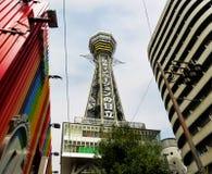 Torre de Tsutenkaku, Osaka, Japão Imagens de Stock Royalty Free