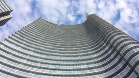 Torre de Unicredit en Milán, Italia Imágenes de archivo libres de regalías